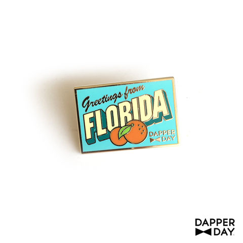 DAPPER,DAY,Postcard,Pin,,Florida,lapel pin Dapper Day