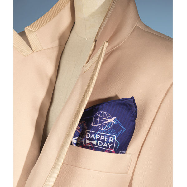 DAPPER DAY Silk Passport Pocket Square - product images
