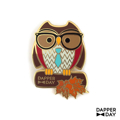 DAPPER,DAY,Owl,Pin