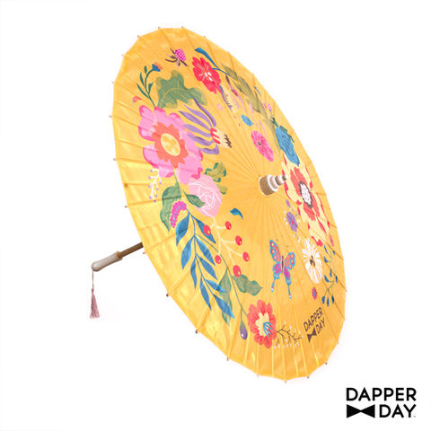 Garden,Party,Parasol,(Yellow),garden party parasol Dapper Day