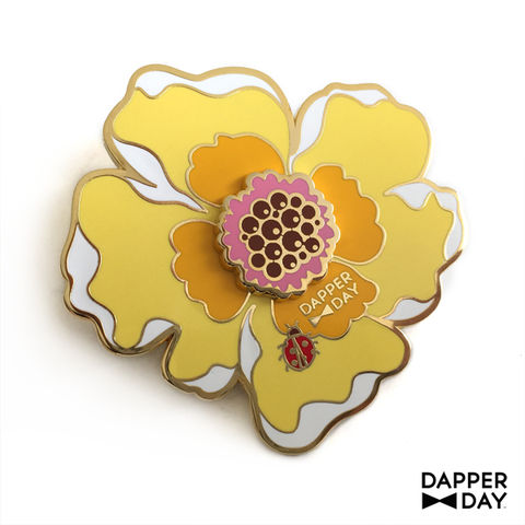 Big-Buttercream,Boutonnière,Pin,brooch lapel pin Dapper Day Boutonnière