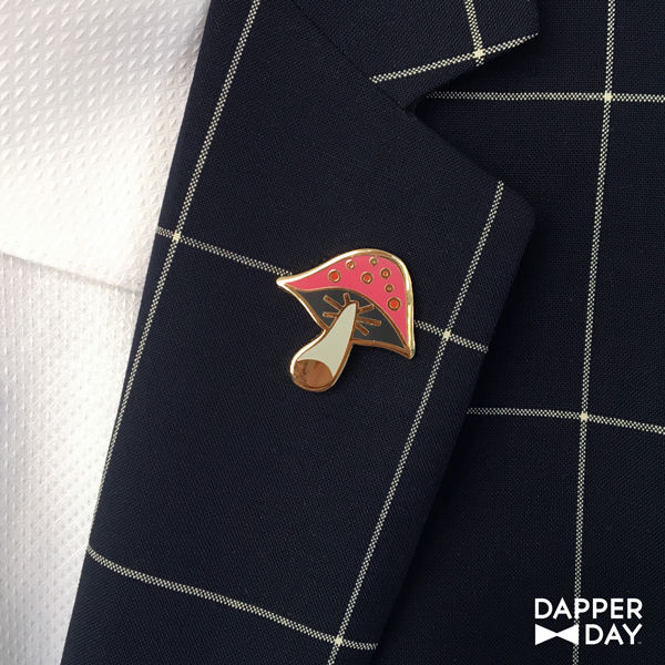 Pink Mushroom Pin - product images  of