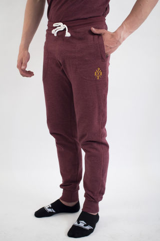 Men's,new,school,long,pants,PRDS,X,-,Burgundy,New school, Unisex, Long pants, Cotton, Pirados