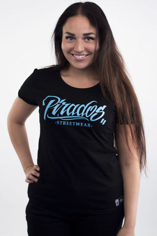 Ladies,summer,shirt,Pirados,Streetwear,-,Black,Lsummershirt
