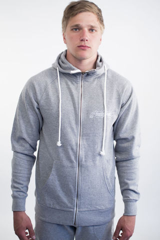 Men's,new,school,zippered,hoodie,PIRADOS,BRAND,&,PRDS,X,-,Ox.Grey,Unisex, Long pants, Cotton, Pirados