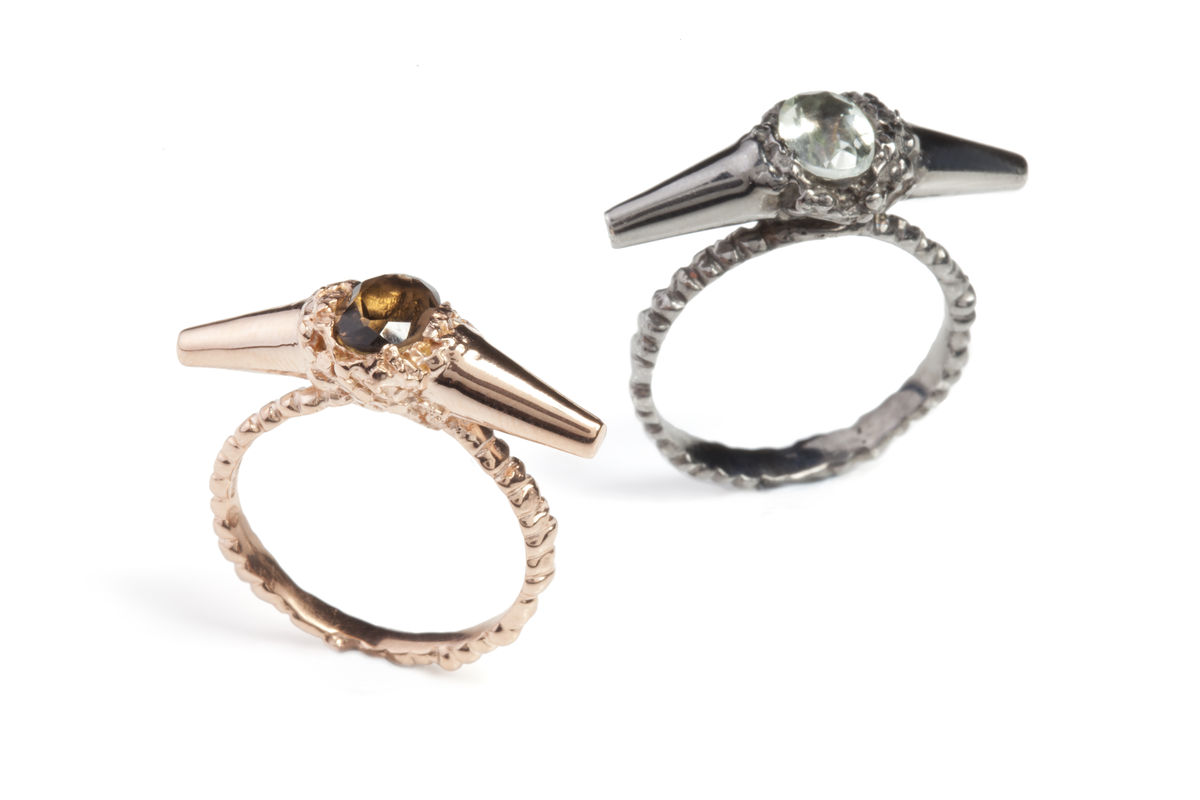 Ros Millar: Charcoal Meteor Shower II Luxe Ring | Jewelry,Jewelry > Rings -  Hiphunters Shop