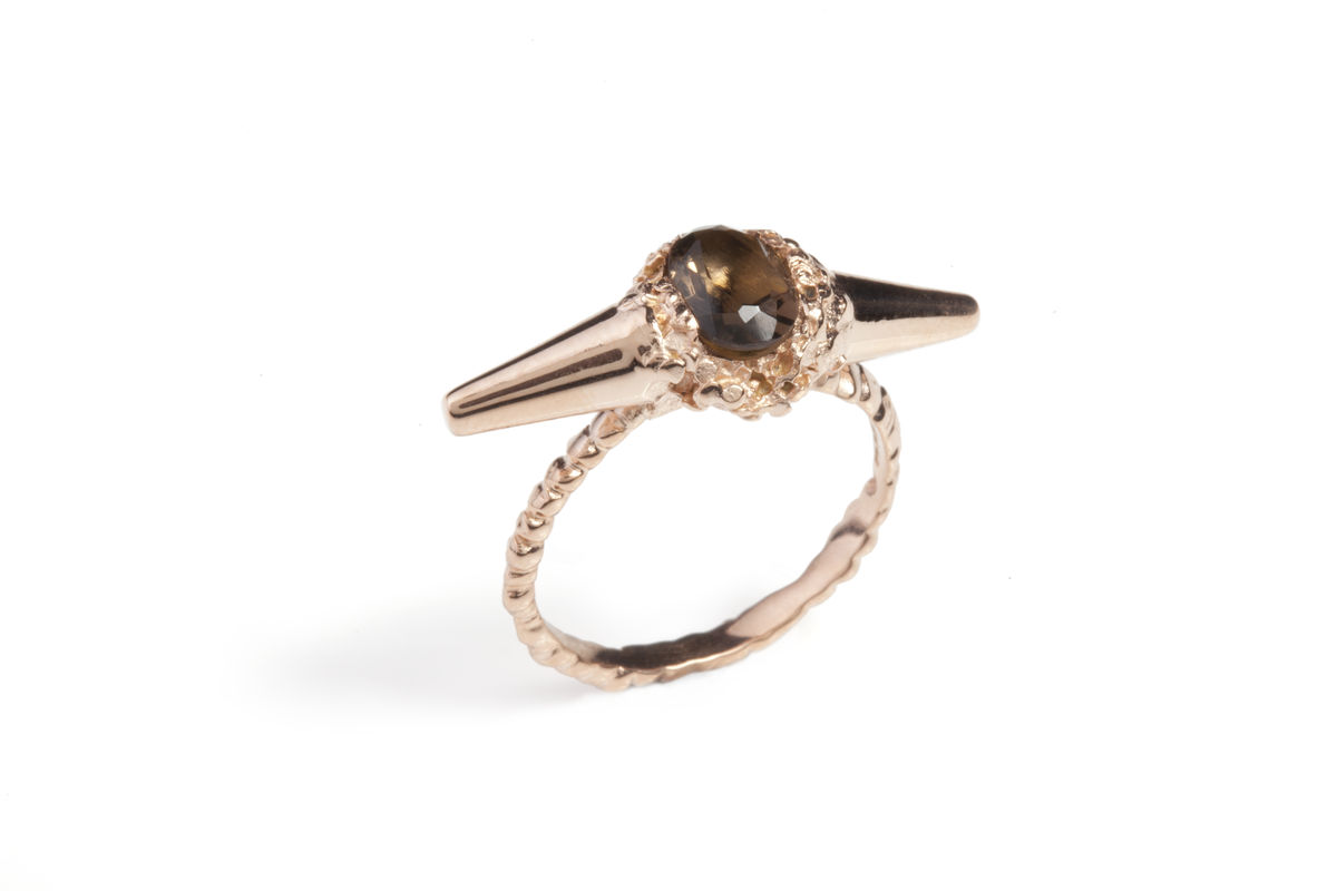 Charcoal Meteor Shower II Luxe Ring - product images  of