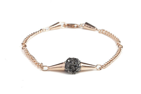 Rose,Meteor,Shower,Bracelet,bracelet, designer jewellery, london, meteor, black gold, rose gold, silver, british