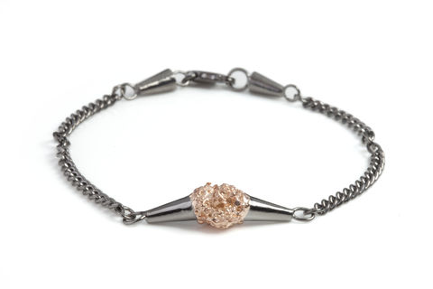 Charcoal,Meteor,Shower,Bracelet,bracelet, designer jewellery, london, meteor, black gold, rose gold, silver, british