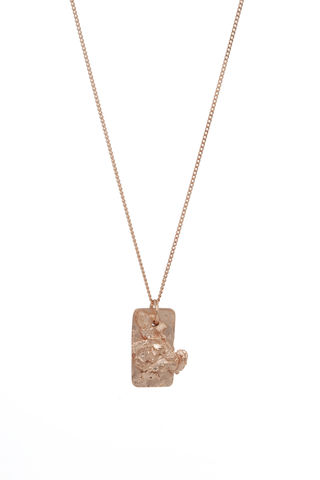 Rose,Textured,Tag,rosmillar, rose gold, necklace, british designer, london