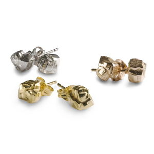 Ros Millar: Rose Nugget Stud Earrings | Jewelry,Jewelry > Rings -  Hiphunters Shop