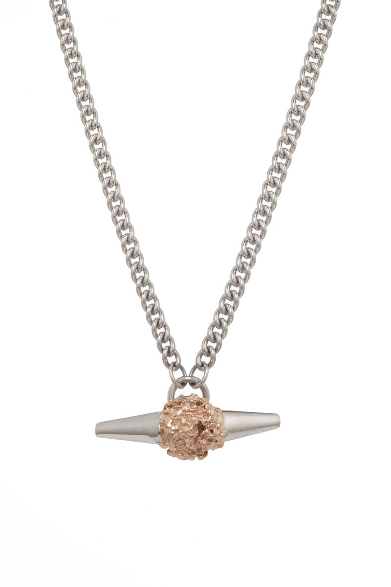 Silver Meteor Rock Necklace - product images  of