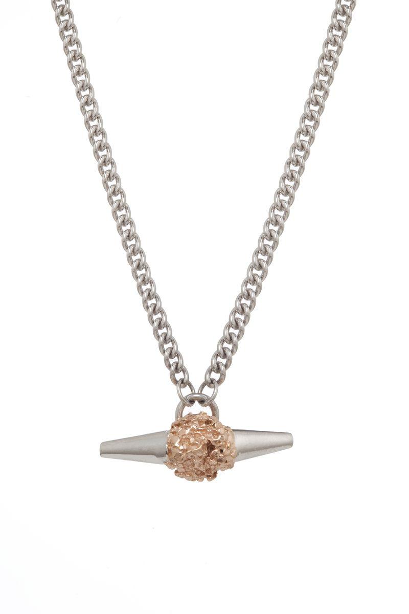Silver Meteor Rock Necklace