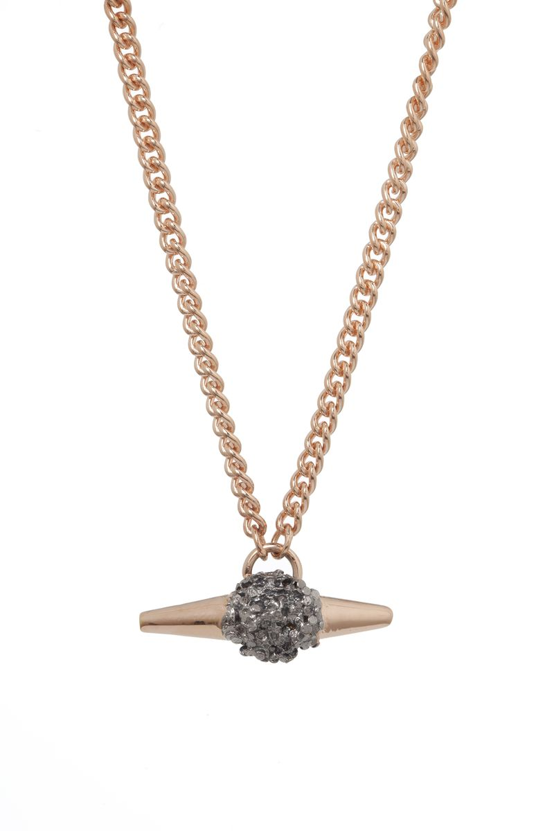 Rose Meteor Rock Necklace - product images  of