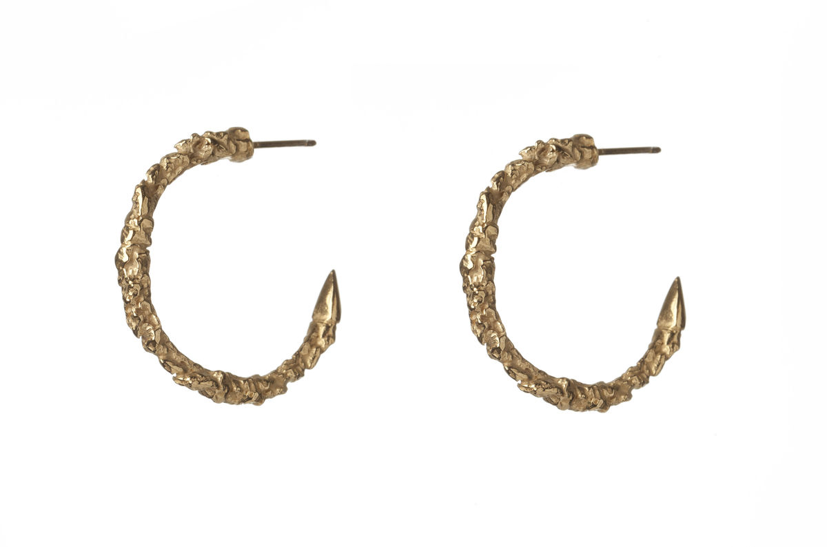 Large Thorn Hoop Earrings - product images  of