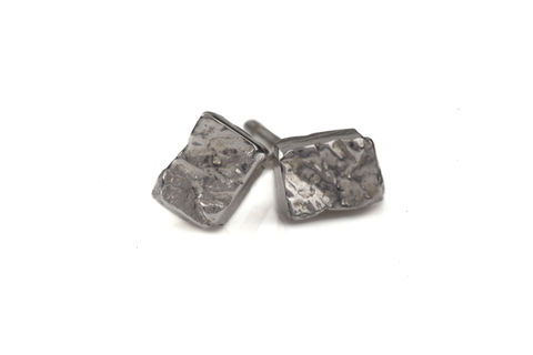 Rectangle,Stud,Earrings,black, silver, gold, texture, bow and arrow, earrings, ros millar, british handmade, fortress