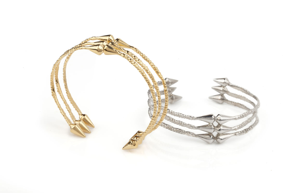 Ros Millar: Gold Spike Cuff | Jewelry,Jewelry > Rings -  Hiphunters Shop