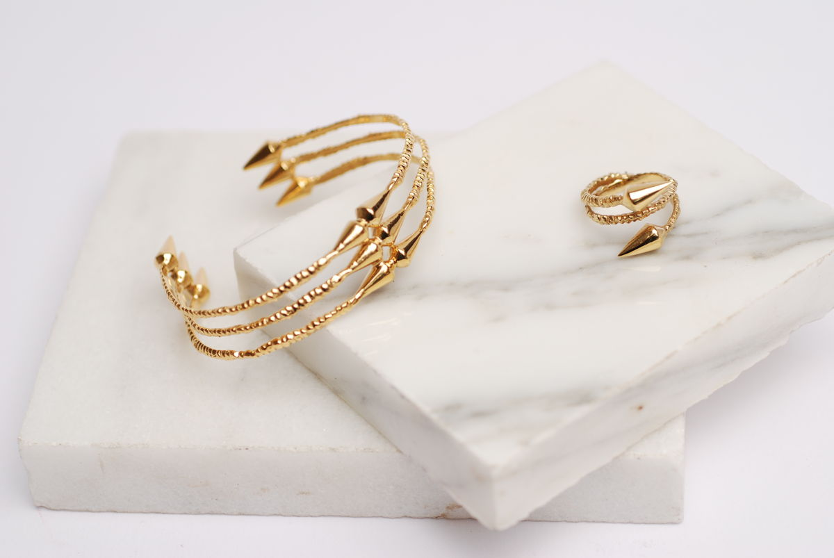 Gold Spike Cuff - product images  of