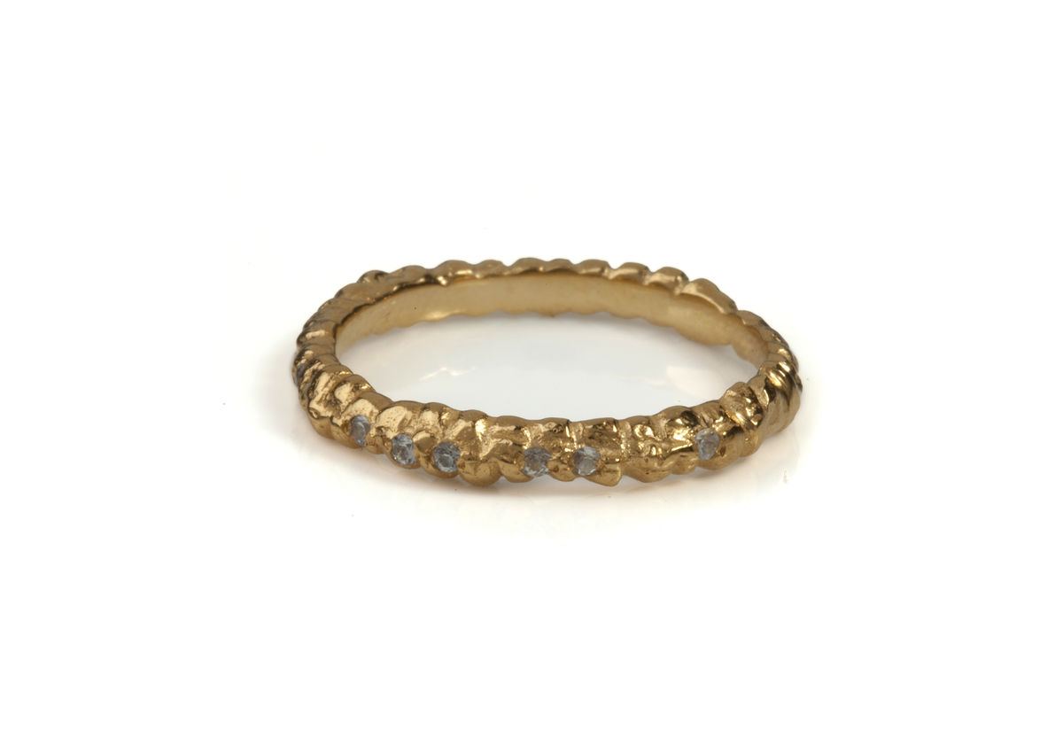 White Sapphire Fine Gold Band - product images  of