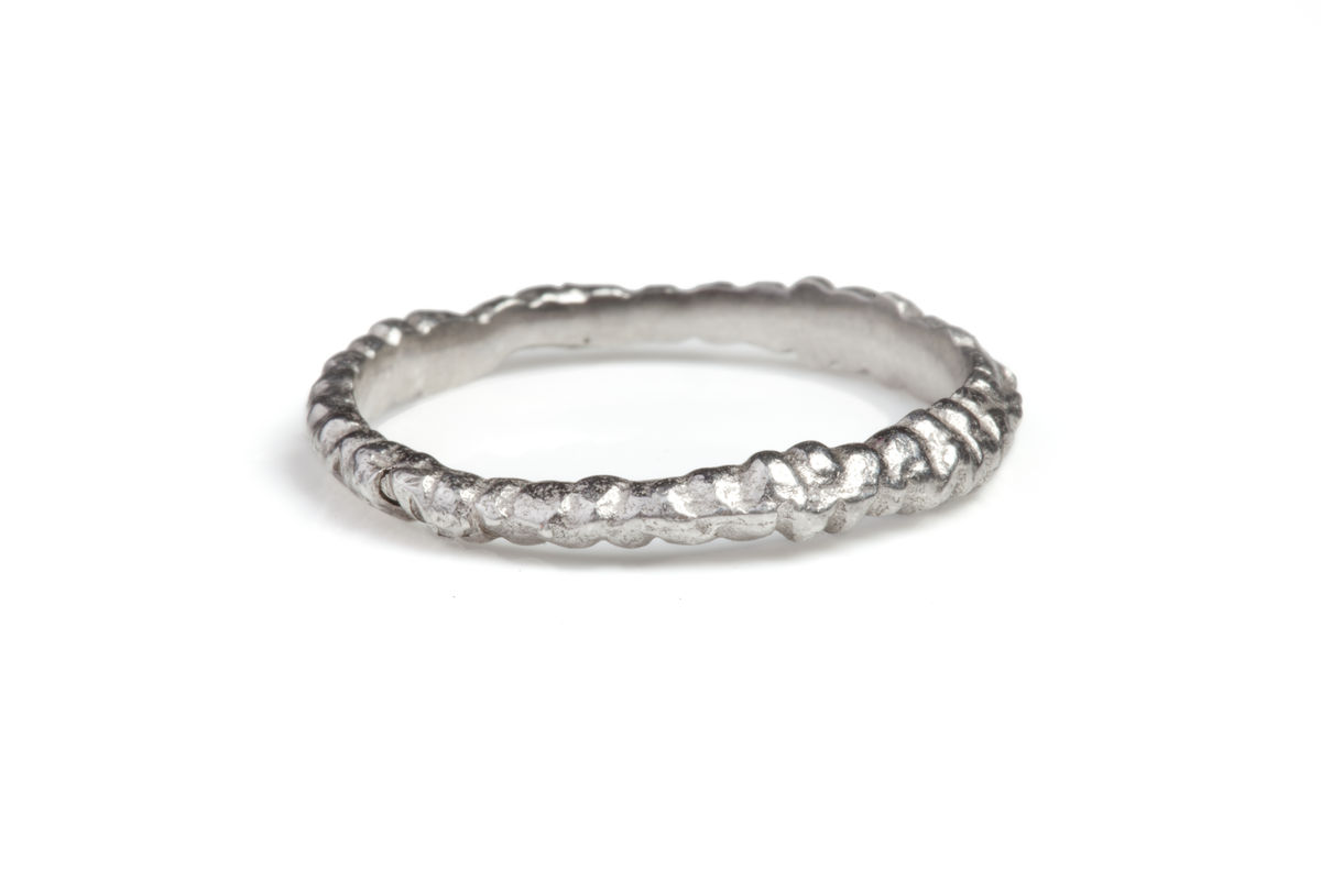 White Sapphire Fine Band Ring Stack - product images  of
