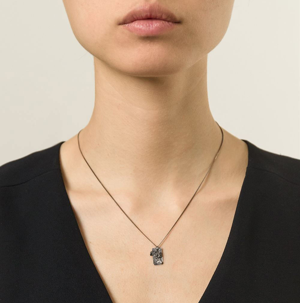 Ros Millar: Charcoal Textured Tag | Jewelry,Jewelry > Rings -  Hiphunters Shop