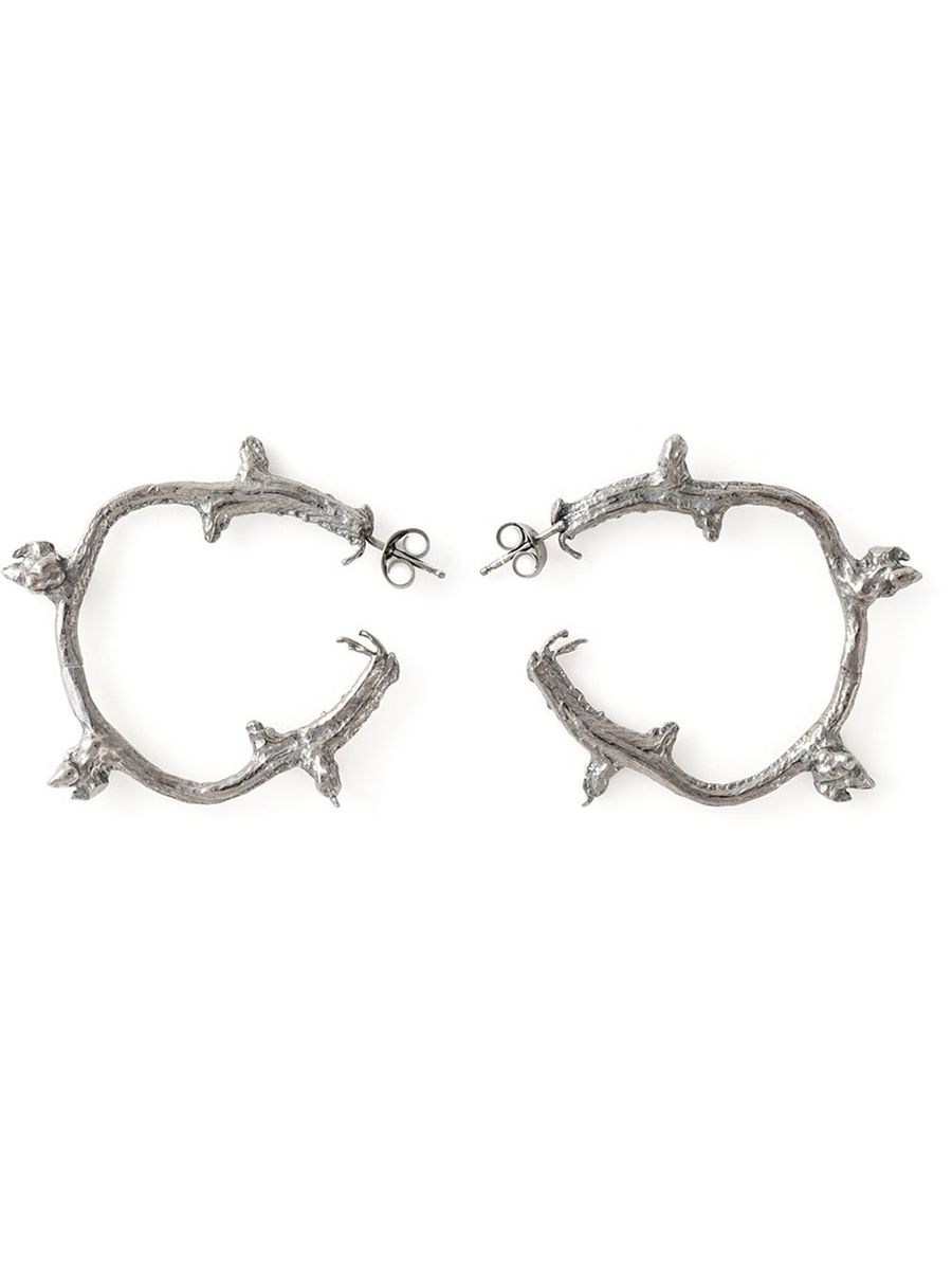 Branch Hoop Earrings - product images  of
