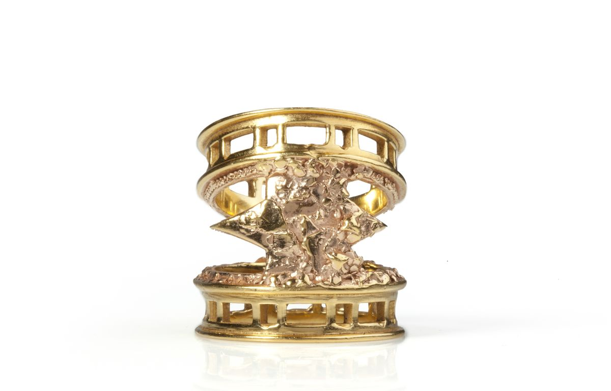 Golden Rose Brickmoon Ring - product images  of