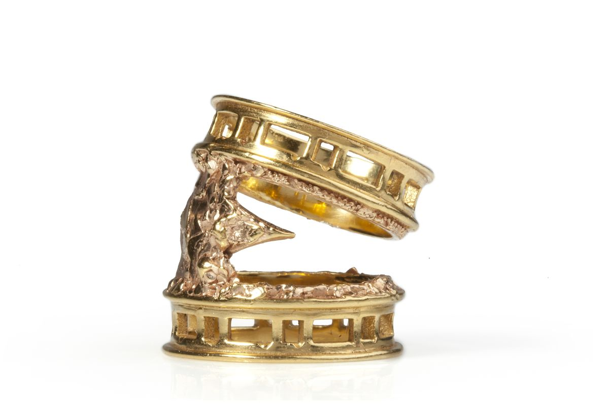 Ros Millar: Golden Rose Brickmoon Ring | Jewelry,Jewelry > Rings -  Hiphunters Shop