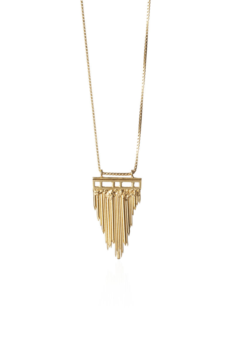 Gold Brickmoon Necklace