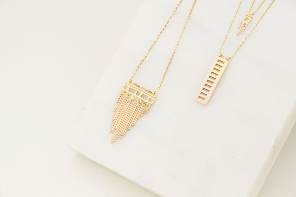 Gold Brickmoon Necklace - product images  of