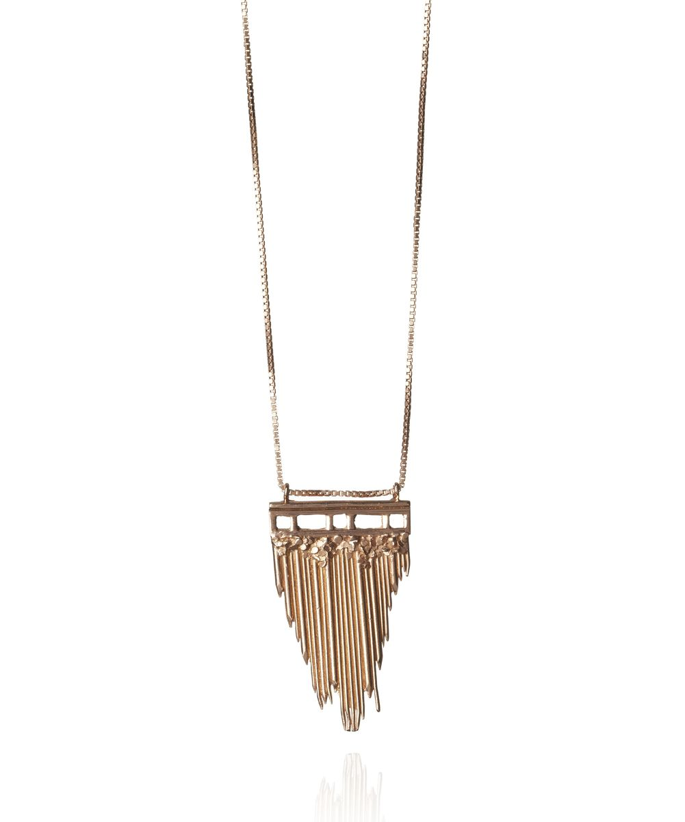Ros Millar: Gold Brickmoon Necklace | Jewelry,Jewelry > Rings -  Hiphunters Shop