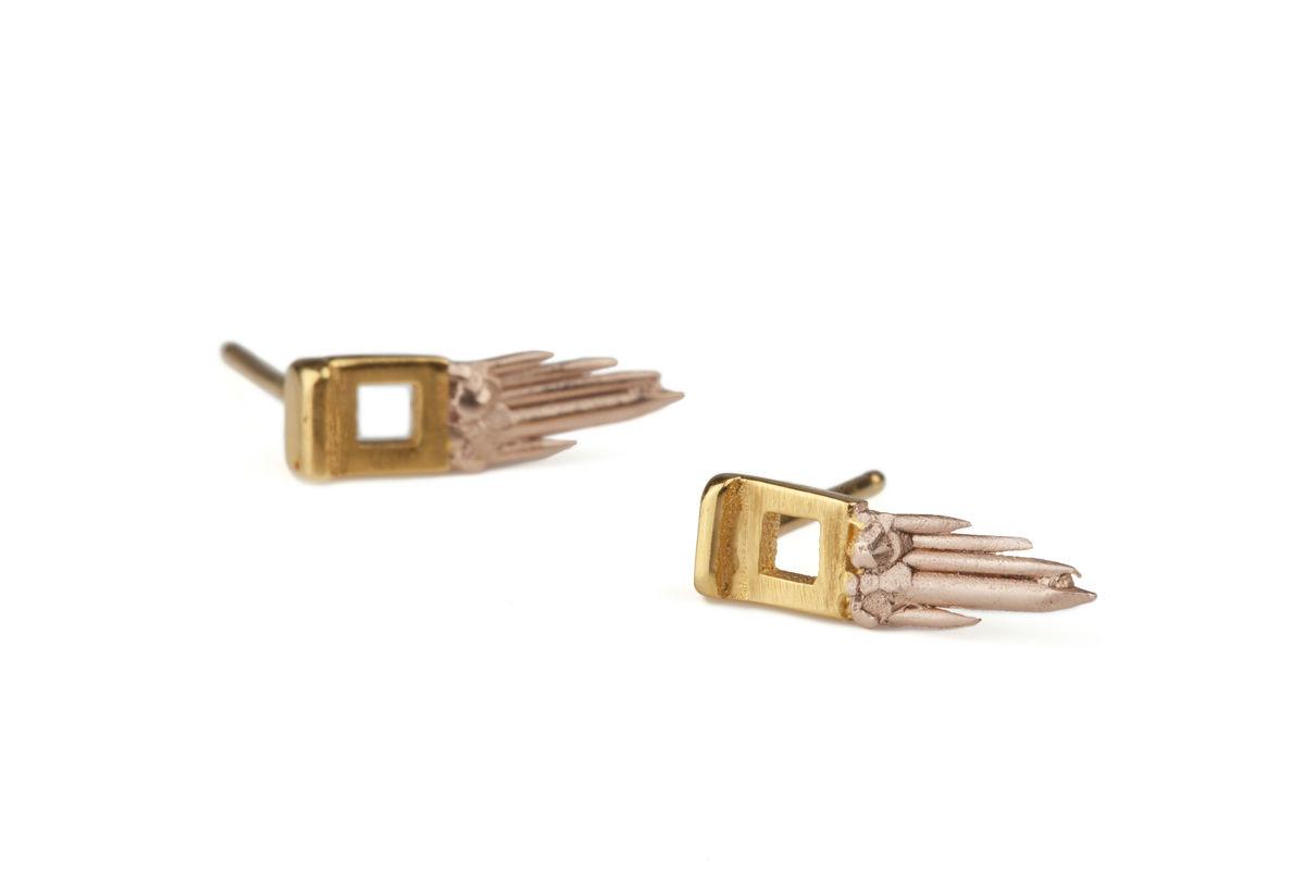 Ros Millar: Sunrise Sun Gun Earrings | Jewelry,Jewelry > Rings,Jewelry > Earrings -  Hiphunters Shop