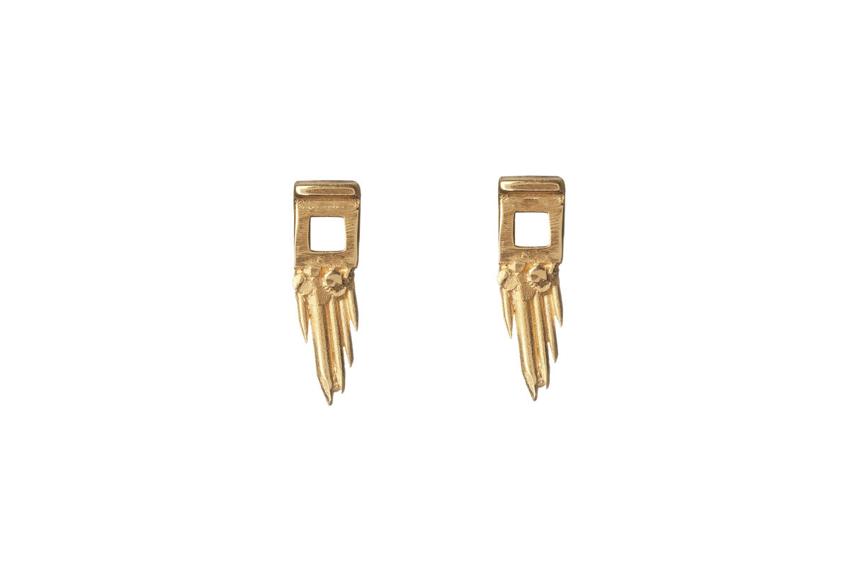 Ros Millar: Gold Sun Gun Earrings | Jewelry,Jewelry > Rings,Jewelry > Earrings -  Hiphunters Shop