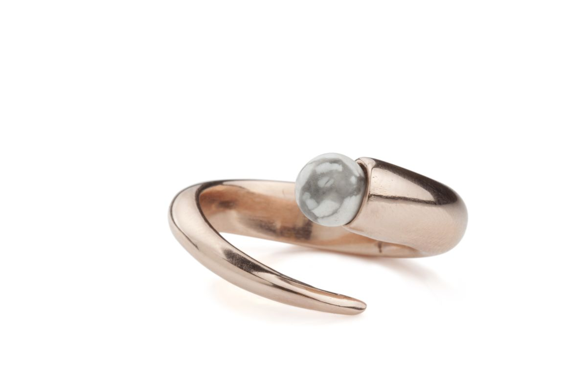 Orb Ring in Rose