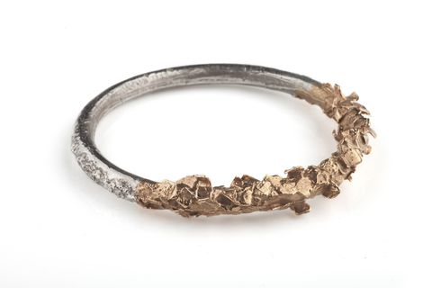 Asteroid,Bangle,fashion jewellery, organic, solid bangle, statement jewellery, meteor collection