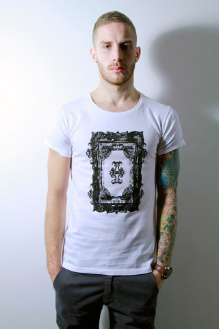 Baroque,trikki, baroque, streetwear, scoop neck, low cut, wide collar, indie, festival, premium, t-shirt, cathedral, grunge, punk, fashion, style, london