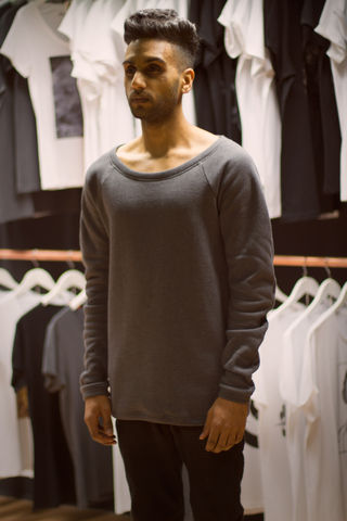 Cuervo:,Charcoal,trikki, london, clothing, jumper, sweatshirt, crewneck, cheshire street, east london, brick lane