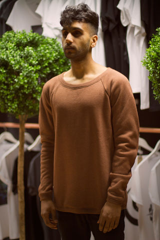 Cuervo:,Rust,trikki, london, clothing, jumper, sweatshirt, crewneck, cheshire street, east london