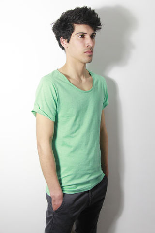 Premium,:,Mint,trikki, speckled, flecked, designer, scoop neck, low cut, wide collar, indie, festival, premium, t-shirt, fashion, style
