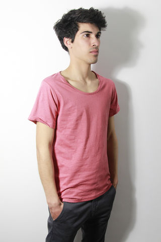 Premium,:,Red,trikki, speckled, flecked, designer, scoop neck, low cut, wide collar, indie, festival, premium, t-shirt, fashion, style
