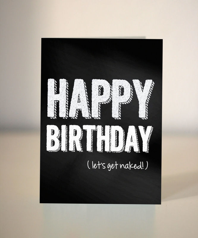 funny birthday card  let's get naked  card for boyfriend, Birthday card