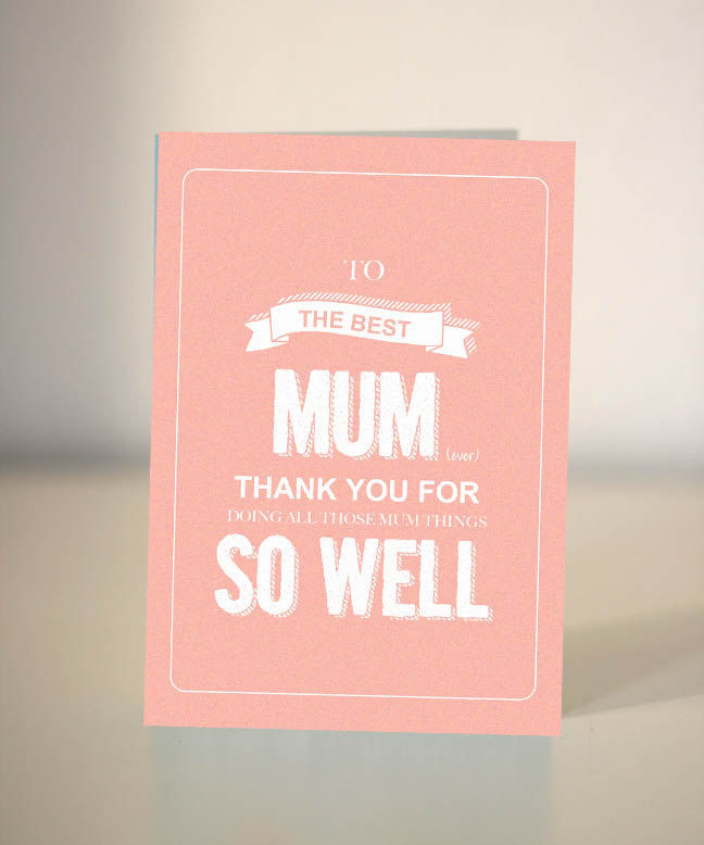 Funny Mothers Day Card To The Best Mum Mom Ever
