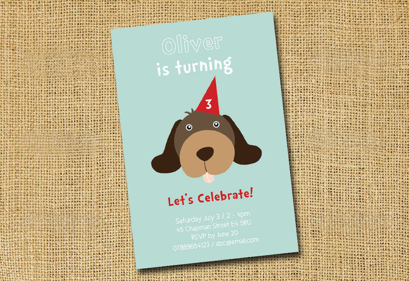 Printable Birthday party invite for children animal invites