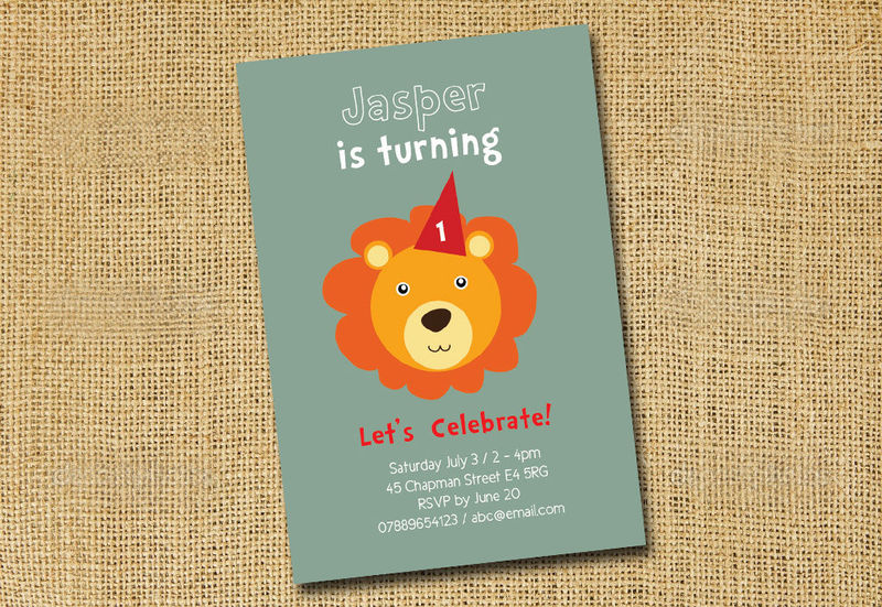 Printable birthday party invite for children animal invites printable birthday party invite for children animal invites dog panda elephant filmwisefo Images