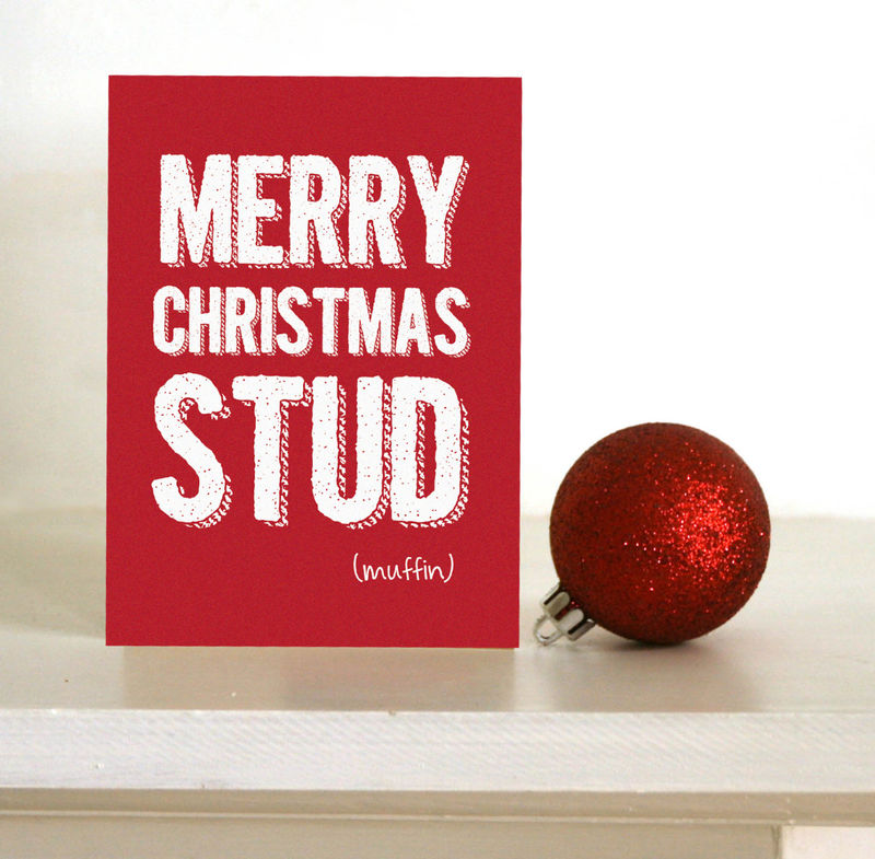 Funny Christmas card - Merry Christmas stud muffin - card for ...