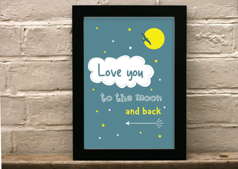 Love You To The Moon And Back Nursery Art For Child S Room Product