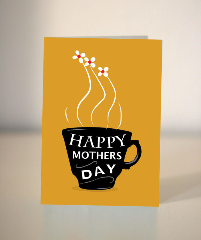 Coffee Cards Gift Set Of 8 Lover Greeting Mothers Day Collection