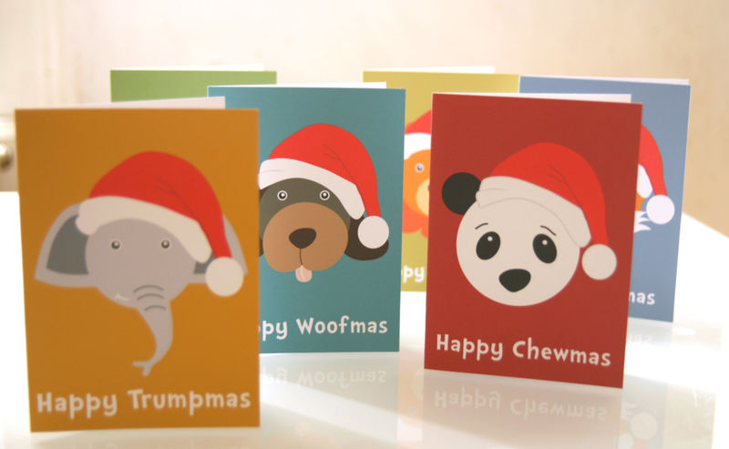 christmas cards pack of six for children animal lovers unicef cards - Christmas Card Packs