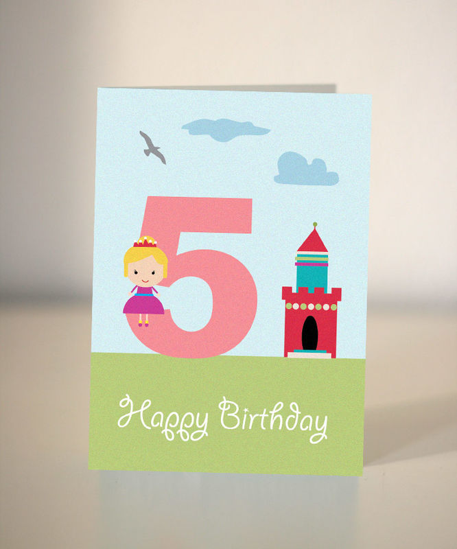 Princess Birthday Card For Child Dickens Ink