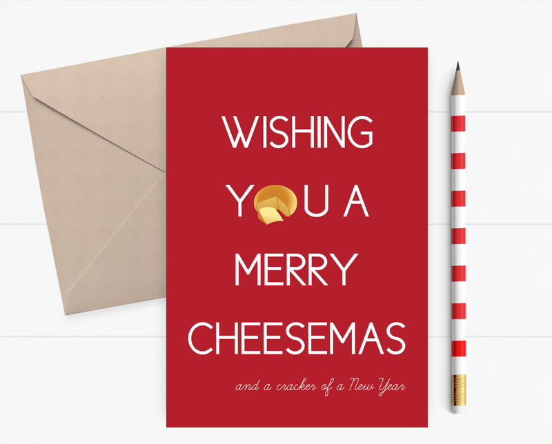 Funny Christmas Card Wishing You A Merry Cheesemas